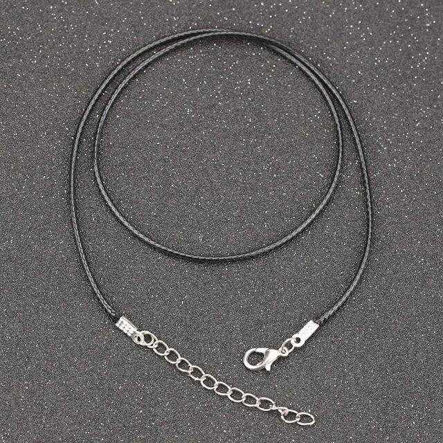 10本入り 革紐 ネックレス用 カニカン アジャスター付の画像1枚目