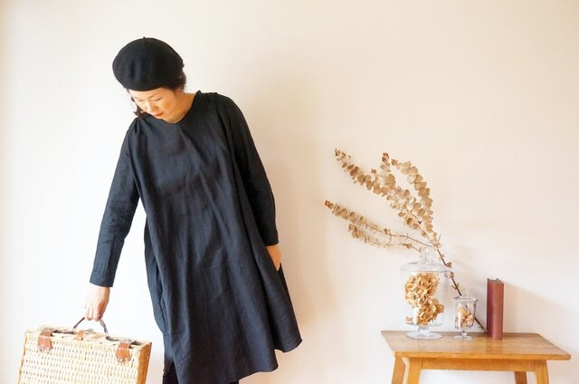 French Linen gather one piece LADY'Sの画像1枚目