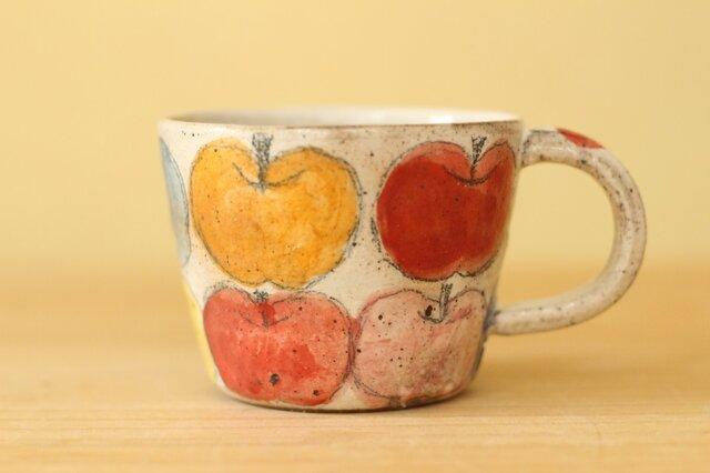 ※受注生産 カラフルりんごのカップ。の画像1枚目