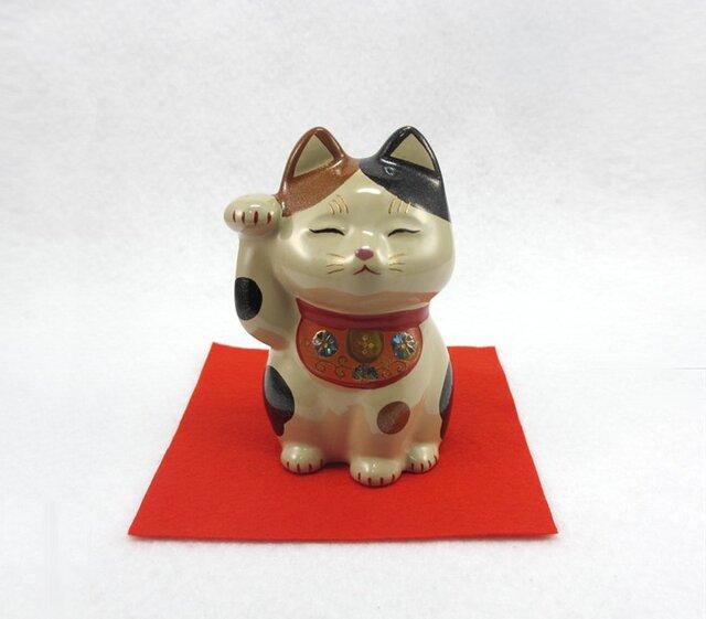 三毛招き猫の画像1枚目