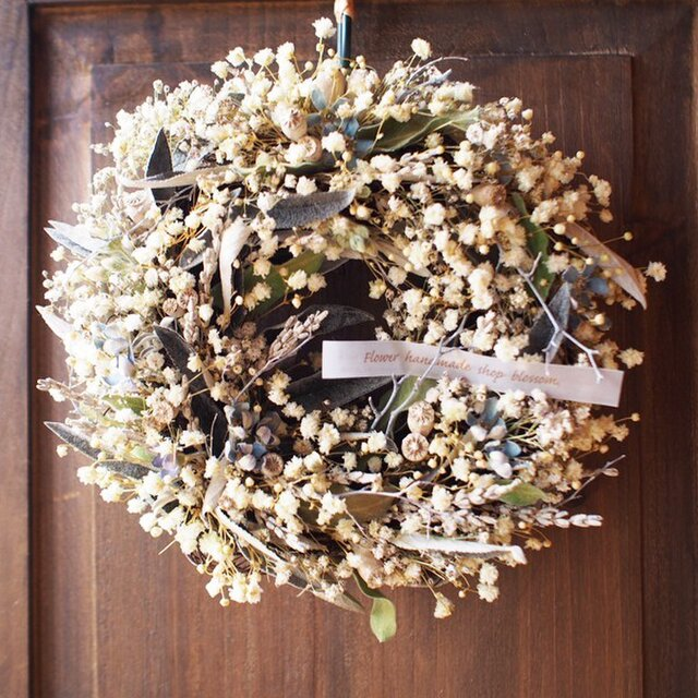 Wreath*antique*かすみ草の画像1枚目