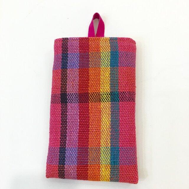 リネン手織り スマホケースの画像1枚目