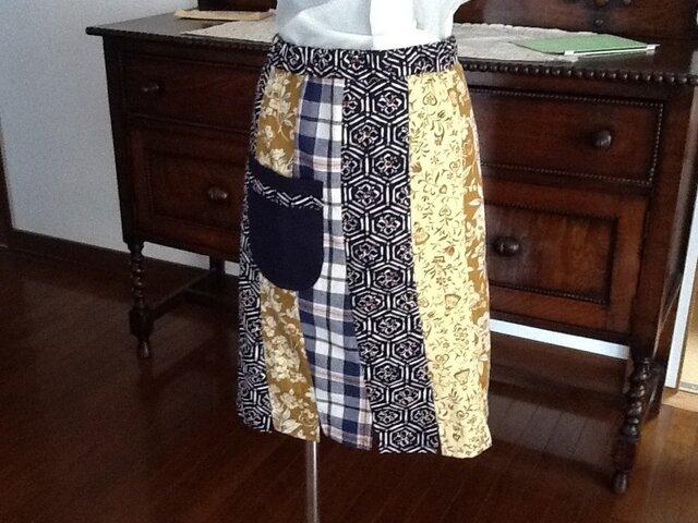 妙さん仕様のパッチワークのスカートの画像1枚目