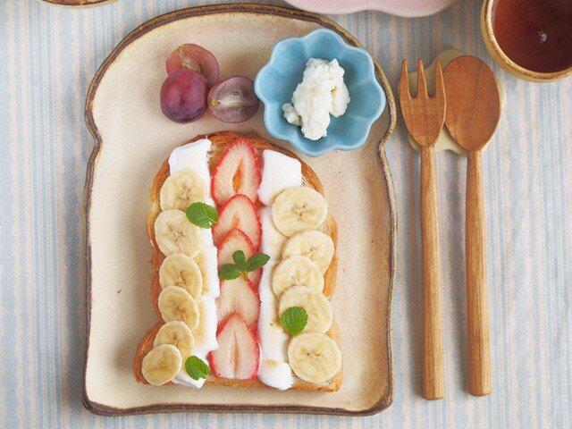 粉福食パン皿-L-の画像1枚目
