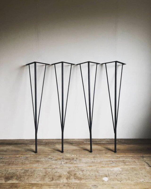 数量限定 MDLEG-H69cm 鉄脚 アイアンレッグ ダイニングテーブル ワークデスク 4本 テーブル インダストリアルの画像1枚目