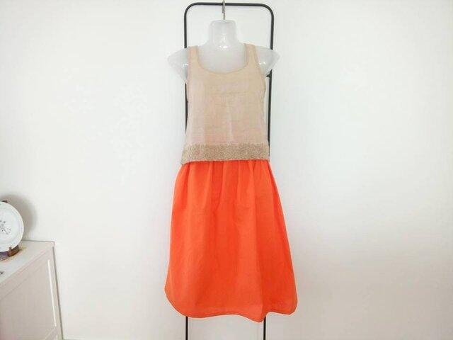 ★春夏★オレンジ色の残照スカート★そろそろ・・・・の画像1枚目