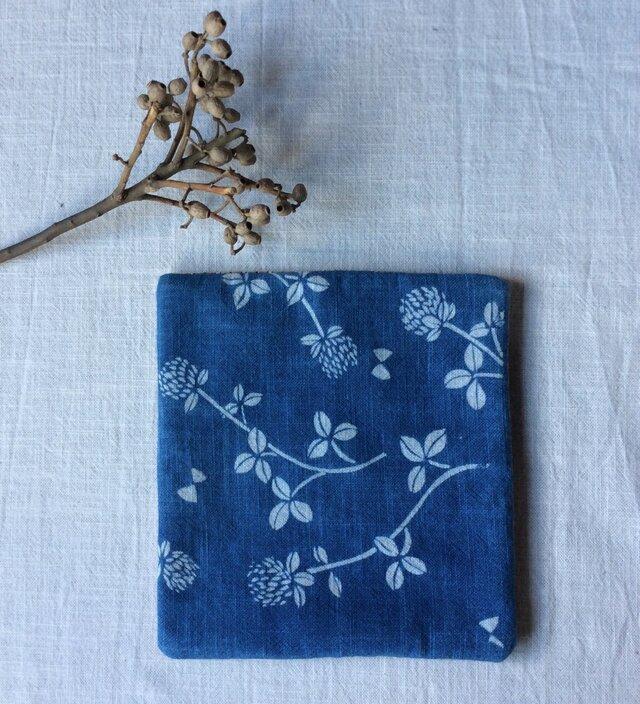 藍染め ティーマット「花降る日」の画像1枚目