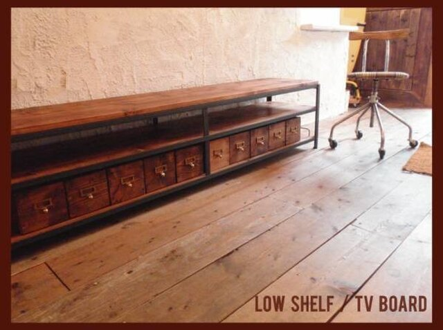アンティーク♪TVボード/shelf/多目的♪棚☆180cm☆テレビボード テレビ台 ステレオボードの画像1枚目