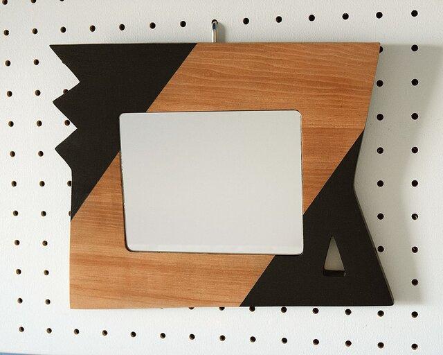 小さいウォールミラー(zigzag and trigone)の画像1枚目