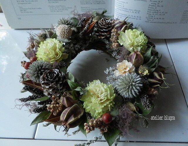 atelierBLUGRA八ヶ岳〜(新作)木の実と雑穀のWreathの画像1枚目