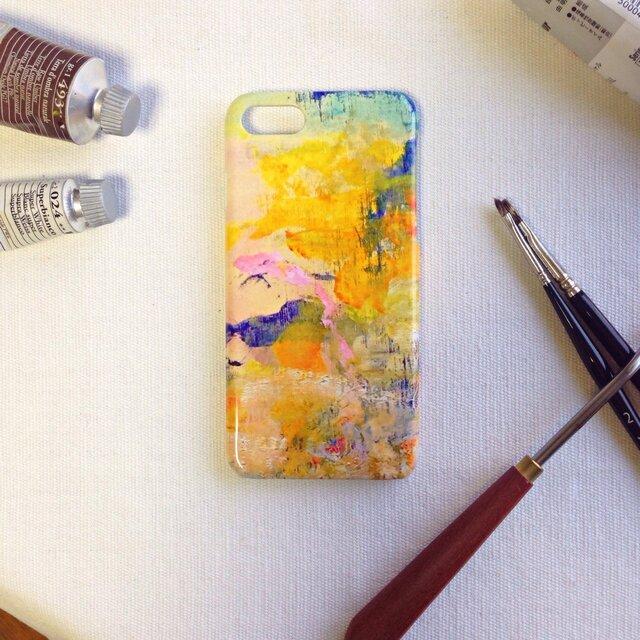 (草原)スマホケースiPhoneX/8/8Plus,Android,Xperiaなど多機種/原画/油絵 (新春)の画像1枚目