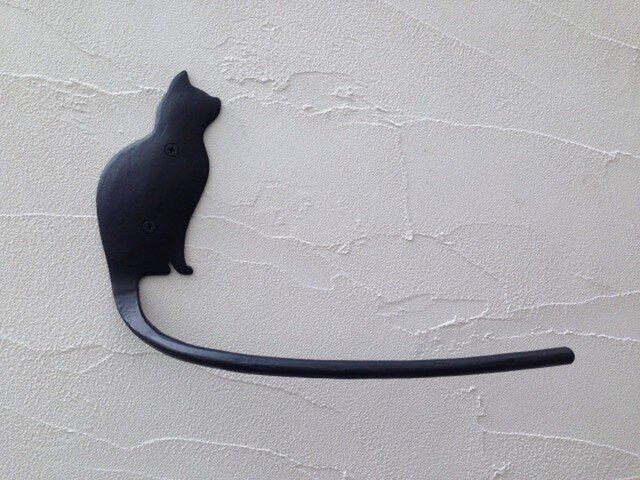 ネコの横顔タオルハンガーの画像1枚目