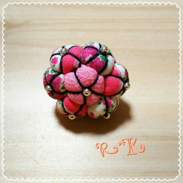 小型ペット用バラ柄のヘアゴムの画像1枚目