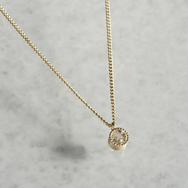 K10 Diamond birth stone pendant {P033K10DM®}の画像1枚目
