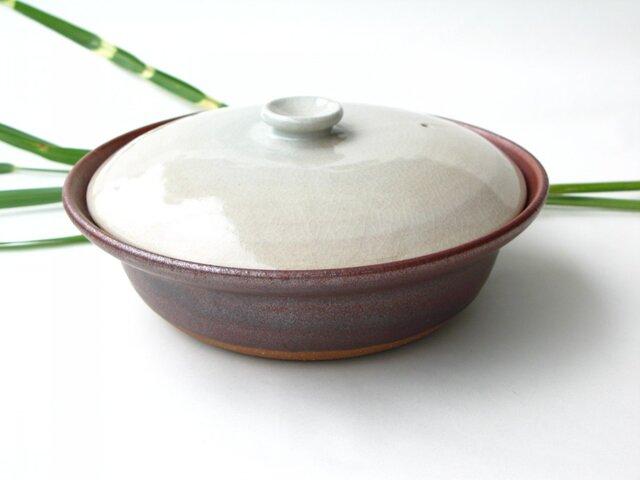 白い蓋の土鍋  No.4 1点のみ 送料無料の画像1枚目