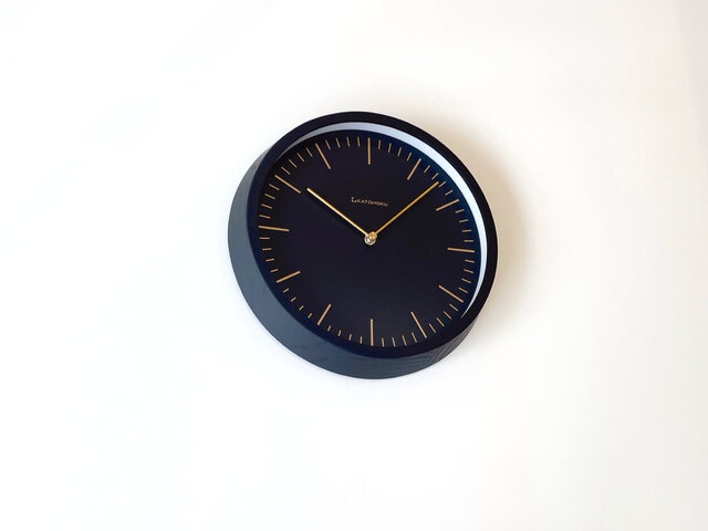 KATOMOKU muku clock 6 ブラック km-59BRC 電波時計の画像1枚目