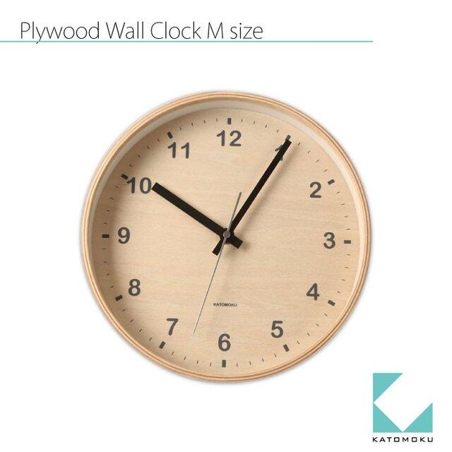 KATOMOKU plywood wall clock km-34Mの画像1枚目