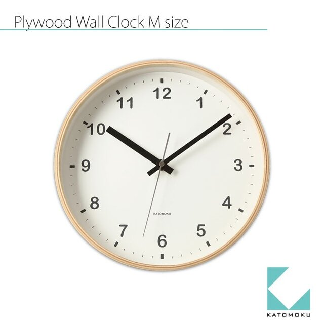 KATOMOKU plywood wall clock km-33Mの画像1枚目
