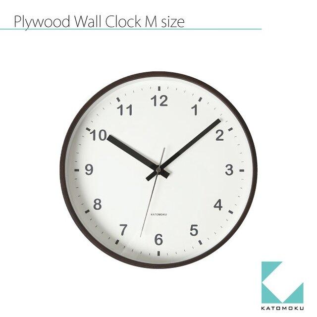 KATOMOKU plywood wall clock km-35Mの画像1枚目