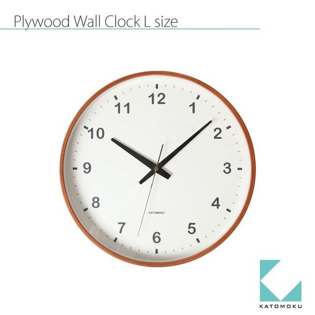 KATOMOKU plywood wall clock km-36Lの画像1枚目