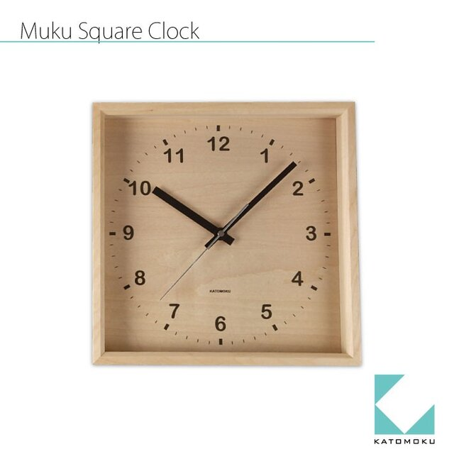 KATOMOKU muku square wall clock km-38Nの画像1枚目