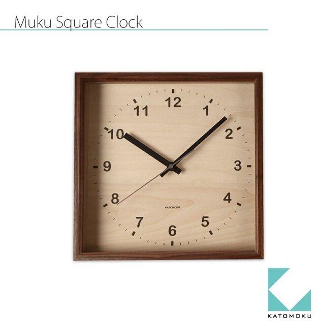 KATOMOKU muku square wall clock km-38Bの画像1枚目