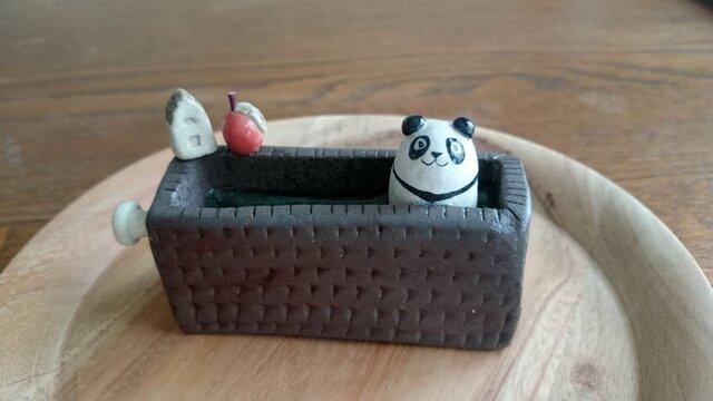 パンダの置物~panda bear ornament~の画像1枚目