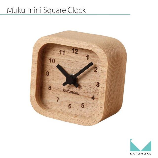 KATOMOKU mini clock km-25黒 角の画像1枚目