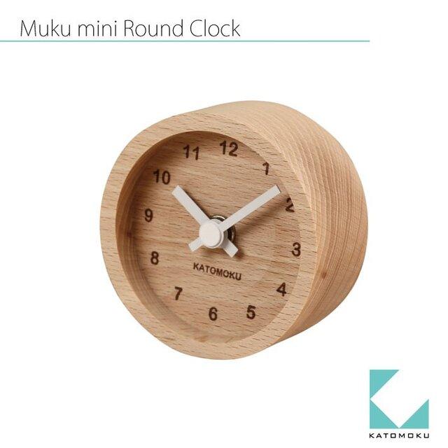 KATOMOKU mini clock km-26白 丸の画像1枚目
