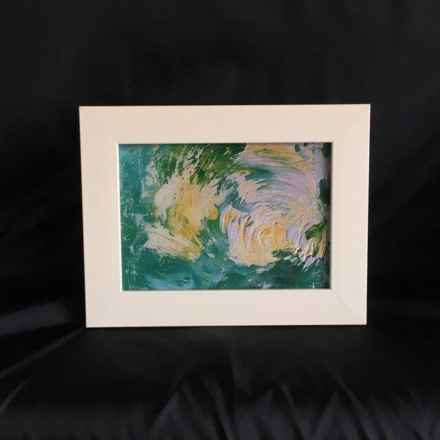 No.11 Ten-Keiの油絵の 複製プリント フレーム入りの画像1枚目
