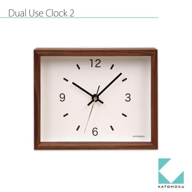 KATOMOKU Dual use clock 2 置き掛け兼用 km-53Bの画像1枚目