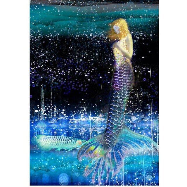 青い人魚【A3サイズ】の画像1枚目