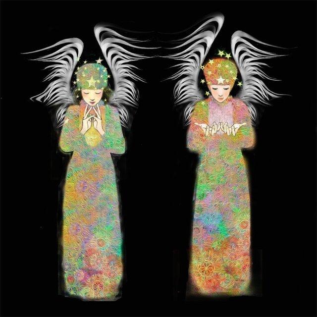二人の天使【A4サイズ】の画像1枚目