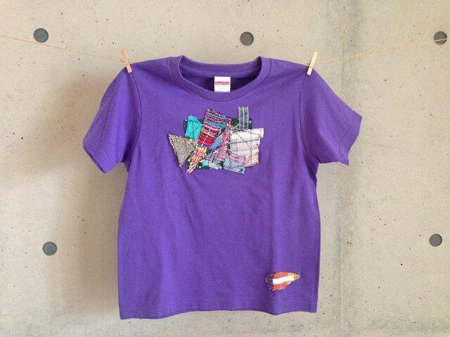 さをりTシャツ(140㎝・紫)の画像1枚目