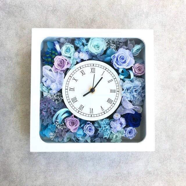 【受注製作】花時計 ブルーラベンダーの画像1枚目