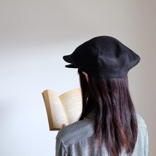再販・Re:19世紀の帽子 - リネン ブラック - <受注制作>の画像1枚目