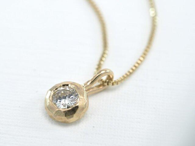 K10 ダイアモンド0.12ct ネックレス(M-N002)の画像1枚目