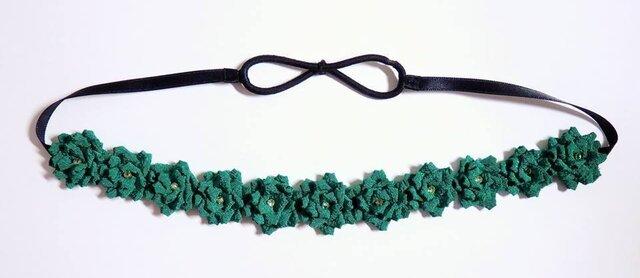 お花のカチューム(緑)の画像1枚目