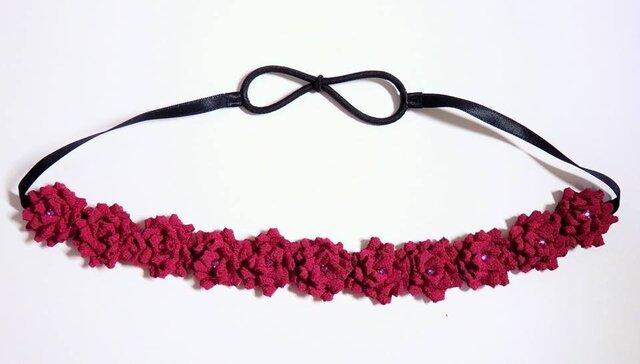 お花のカチューム(赤紫)の画像1枚目