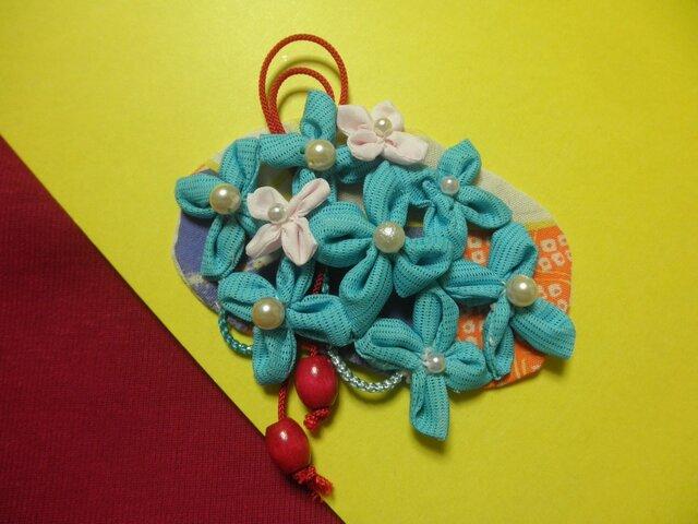 バレッタ「水色の花lace」の画像1枚目