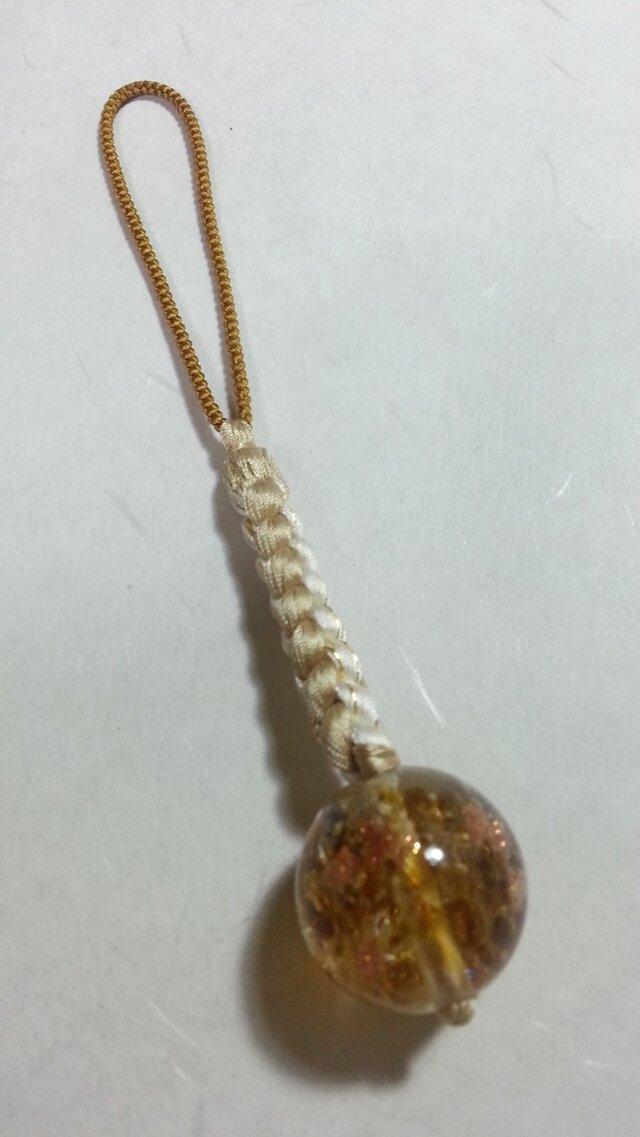 正絹手組根付とんぼ玉の画像1枚目
