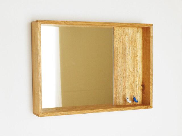木製 箱鏡 楢材6の画像1枚目