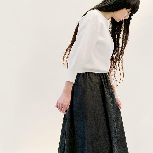 年間OK! 岡山デニム 黒 ロングスカート ブラック ジーンズ ●VIOLA●の画像1枚目