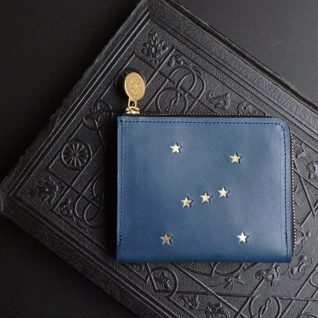 Lウォレット L字ファスナー財布( ORION リバーブルー)牛革 レザー メンズ レディース ILL-1160の画像1枚目