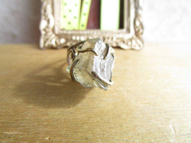 真鍮 シトリン原石リングの画像1枚目