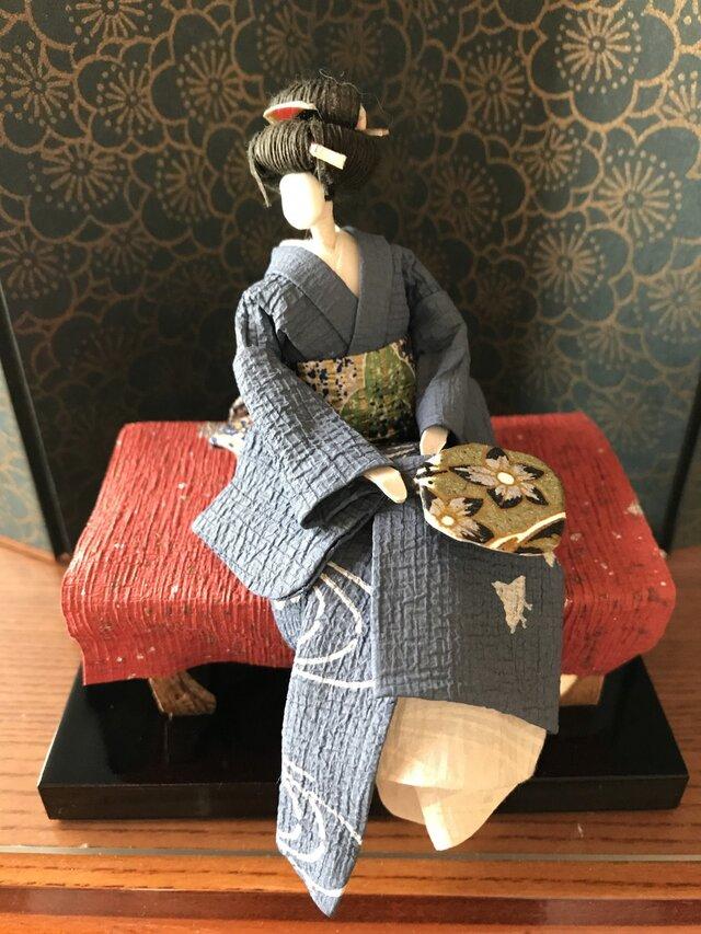 本格派友禅和紙人形(#004夕涼み)の画像1枚目