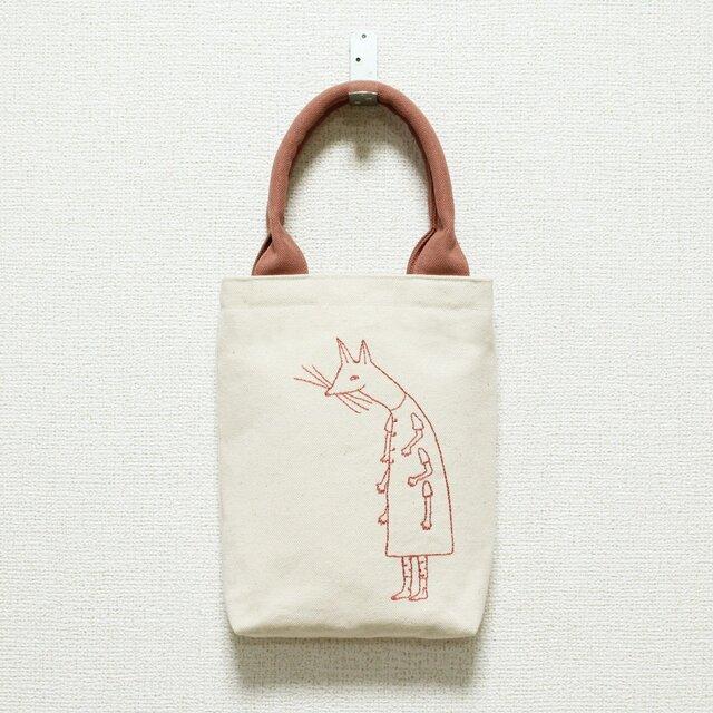 《受注制作》クーネッツの小さい帆布バッグ/ピンクの画像1枚目