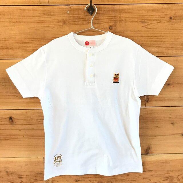 屋台・山車まつり 刺繍 ヘンリーネックTシャツの画像1枚目