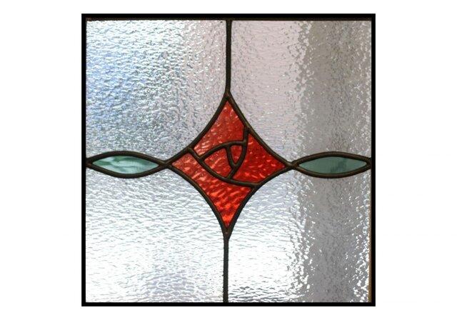 あかり窓*赤いバラ*ステンドグラス*Lightslaboの画像1枚目