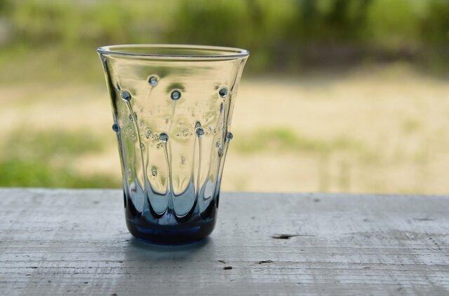 雫のグラス(ブルーグレー)の画像1枚目